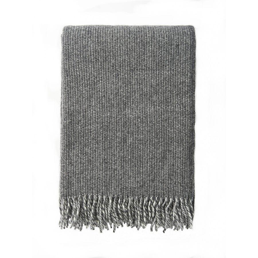 Klippan - Plaid Shimmer Grey - woven wool throw
