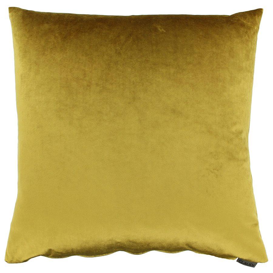 Claudi - Kussen Paulina mustard - 45x45 cm.