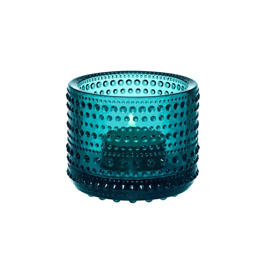 iittala - Kastehelmi zeeblauw windlicht 64mm