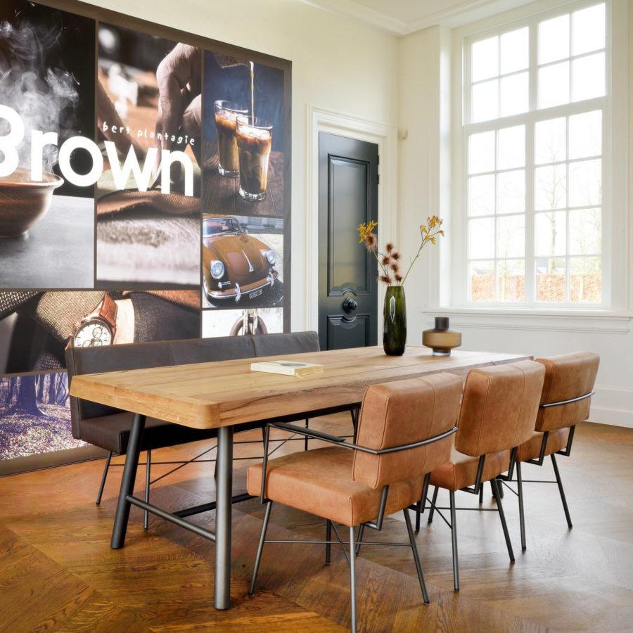 Bert Plantagie Brown - stoel Moss uni-stoffering