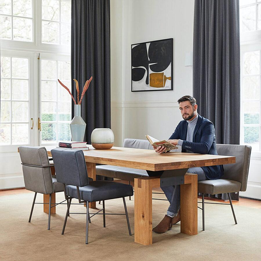 Bert Plantagie Brown - stoel Aster