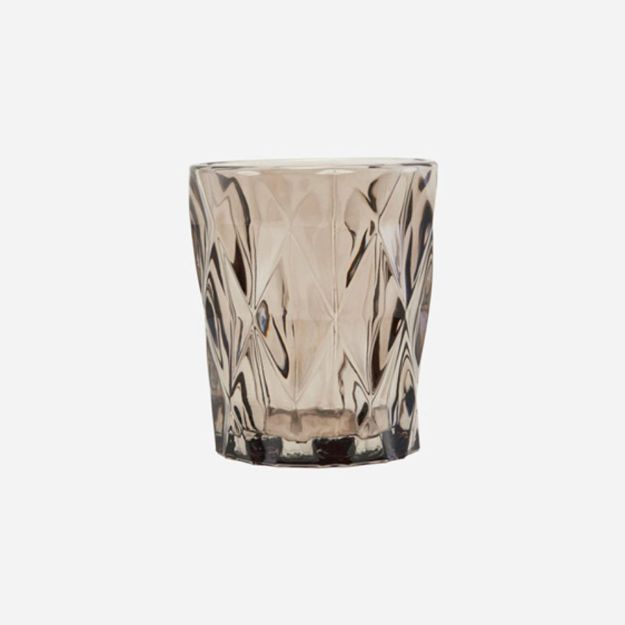 House Doctor - Candle stand - facet brown - be0399