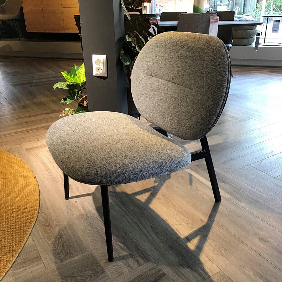 Zuiver - Lounge chair Spike grey - gestoffeerde rug