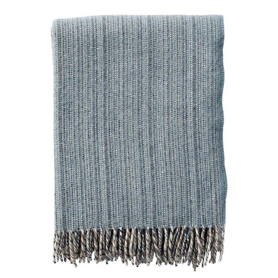 Klippan - Plaid Bjork lead grey 100% wool