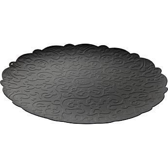 Alessi - Dressed round tray zwart