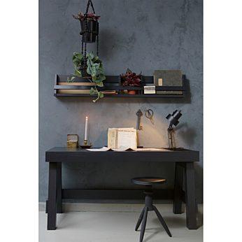 Be Pure Home Rocket aluminium kruk met houten top zwart