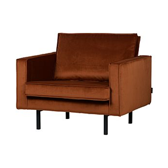 Be Pure Home Rodeo fauteuil Velvet roest