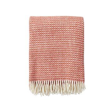 Klippan - Plaid Diamonds blush - woven wool throw