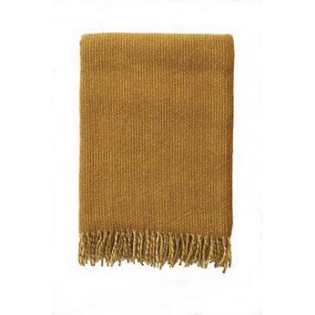 Klippan - Plaid Shimmer Mustard, woven wool throw