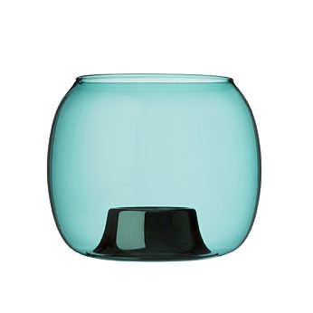 Iittala - Kaasa teal candleh. 141x115mm. sea blue - 1027709